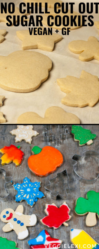 Vegan and Gluten Free - No Chill Cut Out Sugar Cookies - by Veggie Lexi