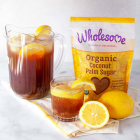 Better For You Lemon Sweet Tea featuring coconut palm sugar. #veggielexi #ad